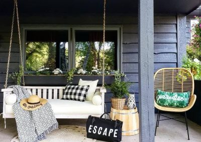 pine hollow hideaway porch swing